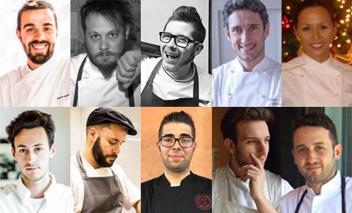 I volti dei dieci migliori giovani chef partecipanti alla nuova edizione delPremio Birra Moretti Grand Cru: la finale si terrà il prossimo 7 novembre.Vota qui