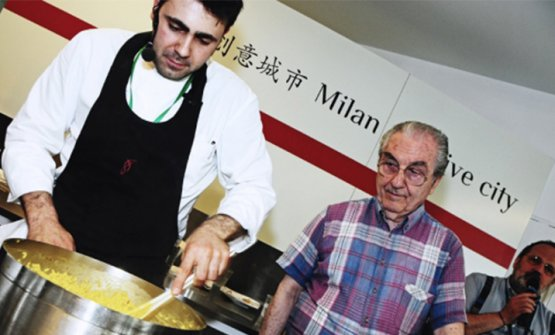 Marchesi e Daniel Canzian. Si riconosce anche Paolo Marchi, sulla destra