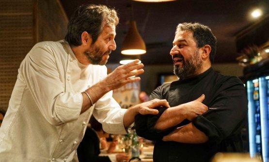 Con l'ospite Cristiano Tomei per La cena anarchica