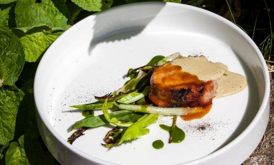 Coniglio, cicoria e pistacchio
