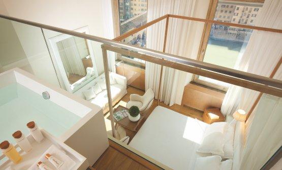 La suite Penthouse al Continentale di Firenze