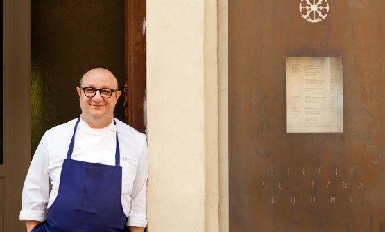 Ciccio Sultano, chef del ristorante Duomo a Ragusa Ibla (foto del post diBenedetto Tarantino)