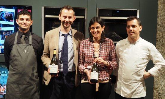 Da sinistra Luca Fanni, Christian Puecher, Antonella Corda e Riccardo Massaiu