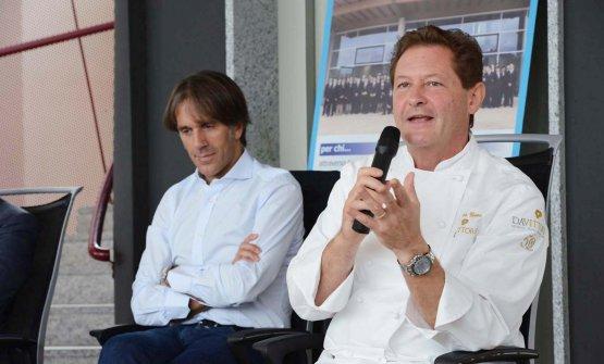 Chicco Cerea con Davide Oldani. Lo chef del Da Vit