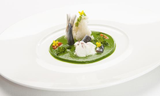 Ecco il piatto 2017 proposto a Identità Golosedallo chef Donato Episcopo, del ristoranteLa Corte dell'hotel Villa Abbazia a Follina (Tv), che ha riaperto proprio ieri, 15 marzo, dopo la pausa invernale