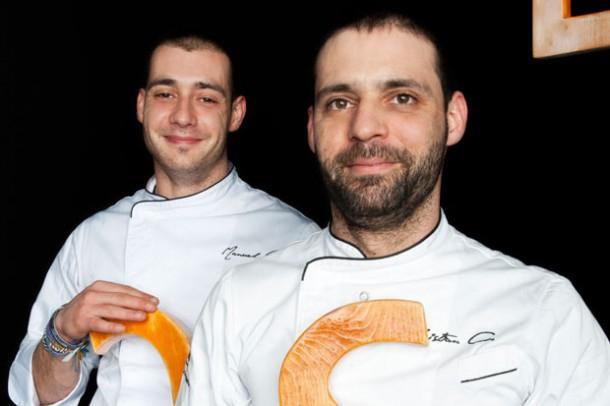 I fratelli Costardi, Christian (a destra) e Manuel, saranno tra i tanti protagonisti di Identit� Milano. Affronteranno un tema per loro insolito: la pasta (foto Brambilla-Serrani)