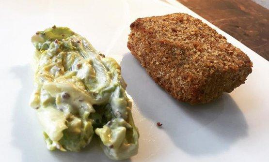Vitello in cotoletta, insalata riccia e senape, Spazio Milano (foto Zanatta)