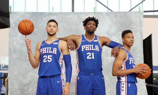 I 76ers, squadra di basket di Philadelphia