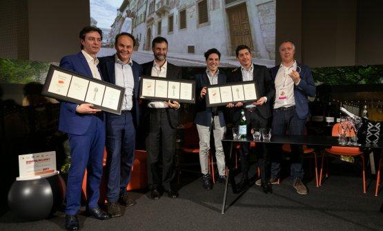 Tomberli, Lunelli, Cristofori, Piras, Dell'Agnolo e Gabriele Zanatta, moderatore del dibattito