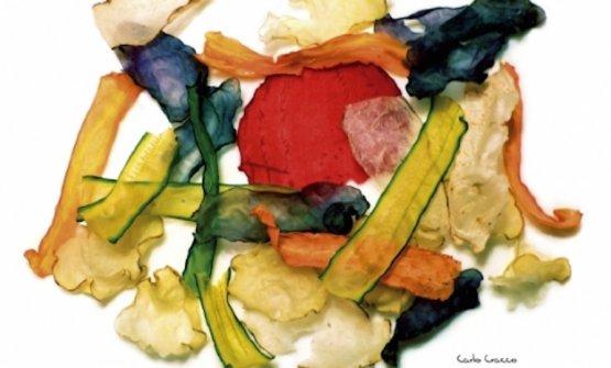 Le Verdure essiccate di Carlo Cracco, piatto simbolo dell'edizione 2007 di Identità Golose a Milano