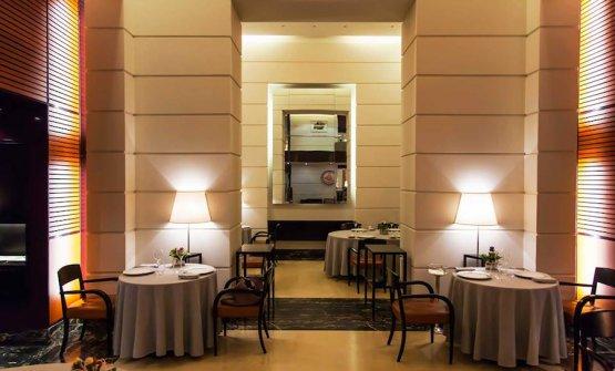 Una delle due sale dell'allora ristorante Cracco Peck in via Hugo a Milano