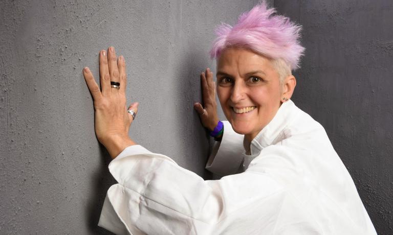 Cristina Bowerman di Glass Hostaria, Roma. Domani cucinerà un antipasto Tex-Mex-romano-calabrese-peruviano (foto Brambilla-Serrrani)
