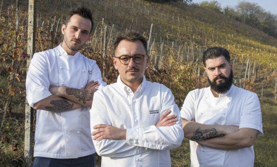 Al centro lo chef Federico Sgorbini conMarsilio