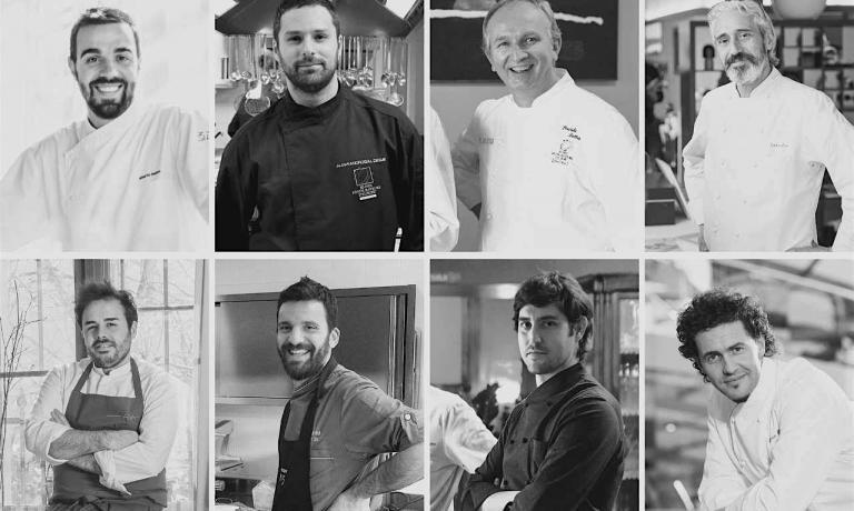Gli otto chef protagonisti della cena di gala