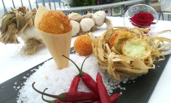 L'Arancino aglio, olio e peperoncino di Lorenzo Cuomo