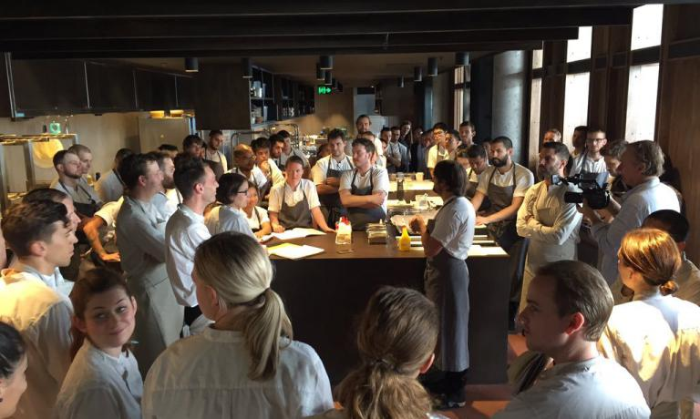 The staff from Noma on the day of the debut