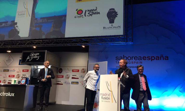 Di nuovo lo chef protagonista sul palcoscenico di Madrid