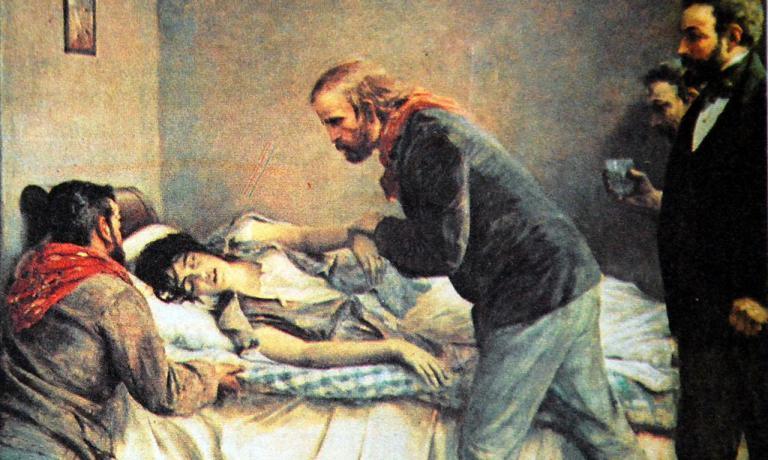 La morte di Anita Garibaldi nei pressi dell'attuale Anita, dove Di Diego trova le migliori anguille