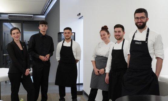 Lo staff del Marotta Ristorante, alta cucina a Squ
