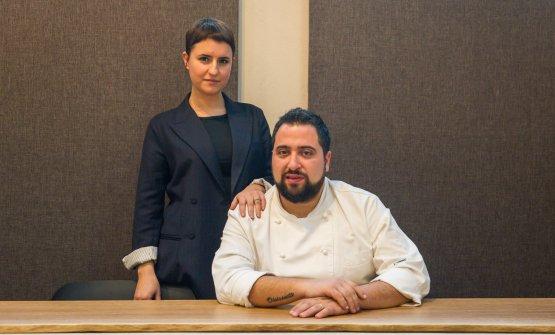 Francesca Mauri, responsabile di sala e il maritoCristian Fagone, cuoco