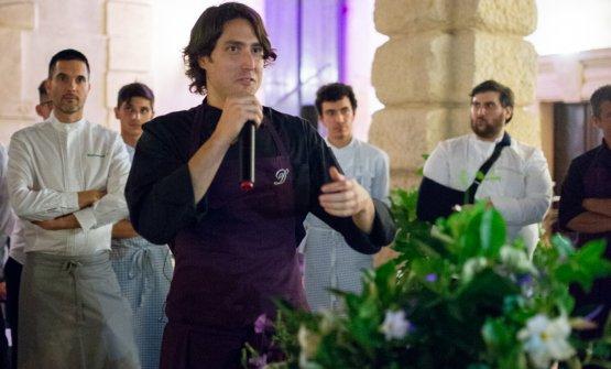 Matteo Rizzo alla presentazione del progetto, diet