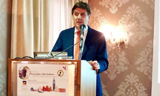 Il presidente del Consorzio Doc Delle Venezie, Albino Armani