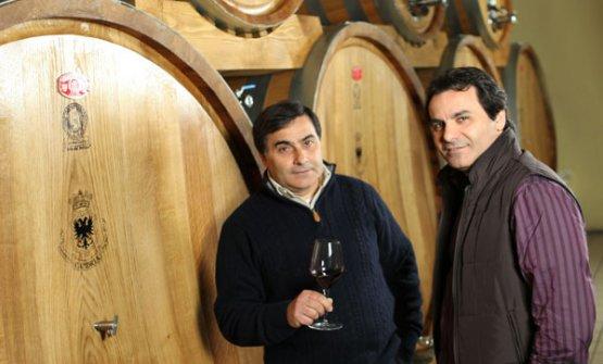 Da sinistra, Franco e Nino Cambria, responsabili della gestione dell'azienda di famiglia