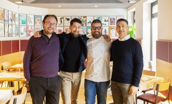 I quattro soci: Lorenzo Gallletti, Damian Piotr Janczara, Eugenio Boer e Leonardo Nardella
