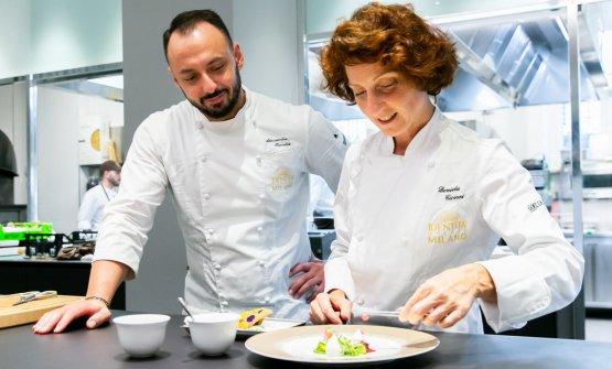 Daniela con il resident chef di Identità Golose Milano, Alessandro Rinaldi