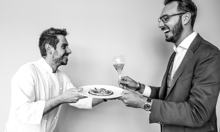 Chef Marco Acquaroli e patron Daniele Merola: la Dispensa franciacortina si sdoppia, nasce il ristorante gastronomico Natura