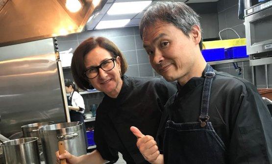 Patrizia Di Benedetto e il sous chefYukihiko Matsuguma: i due lavorano insieme da 16 anni