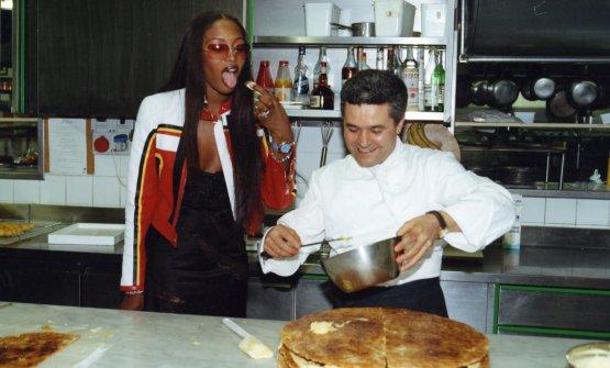 Marcattilii con Naomi Campbell, nata proprio nel 1970 come il San Domenico