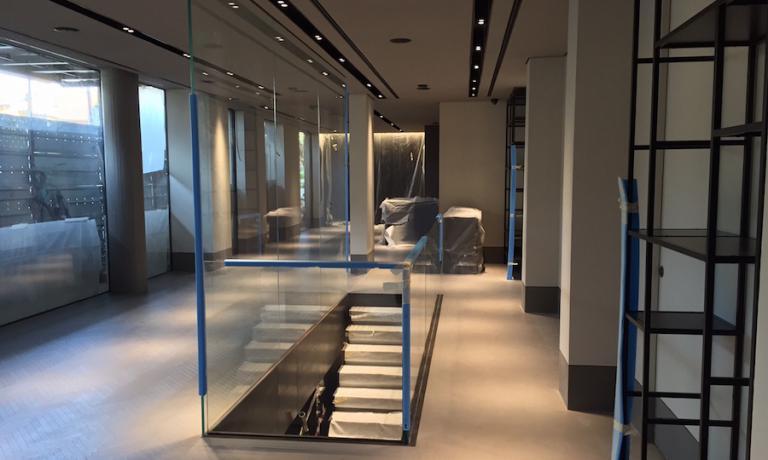 Questo ampio e profondo spazio verrà occupato dai tavoli per la clientela del nuovo D'O. Nonostante la nuova insegna occupi circa 900 metri quadri, i coperti rimasrranno invariati: 45