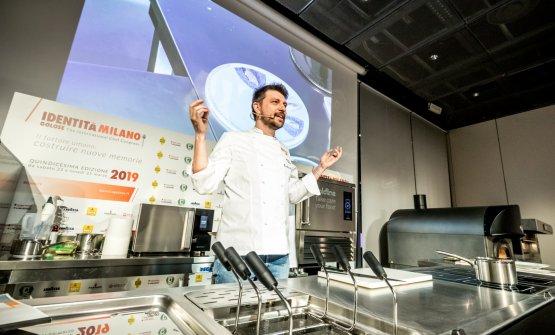 Alberto Gipponi, ristorante diDinadi Gussago (Brescia),ha aperto la giornata diNuove Identità, Italia-Mondo