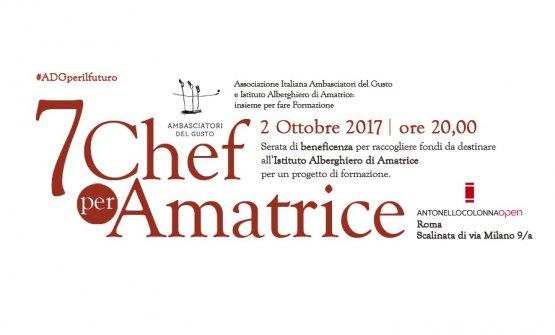 Iniziativa solidale per Amatrice: appuntamento il 2 ottobre a Roma con 7 grandi chef degliAmbasciatori del Gusto