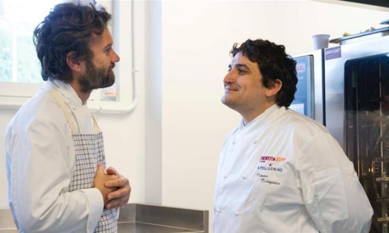 Mauro Colagreco con Carlo Cracco, il maggio scorso a Identità Expo