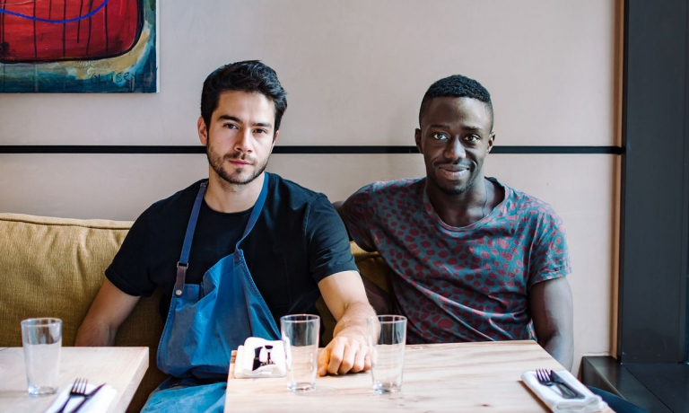 With his business partner Iré Hassan-Odukale (photo london.eater.com)