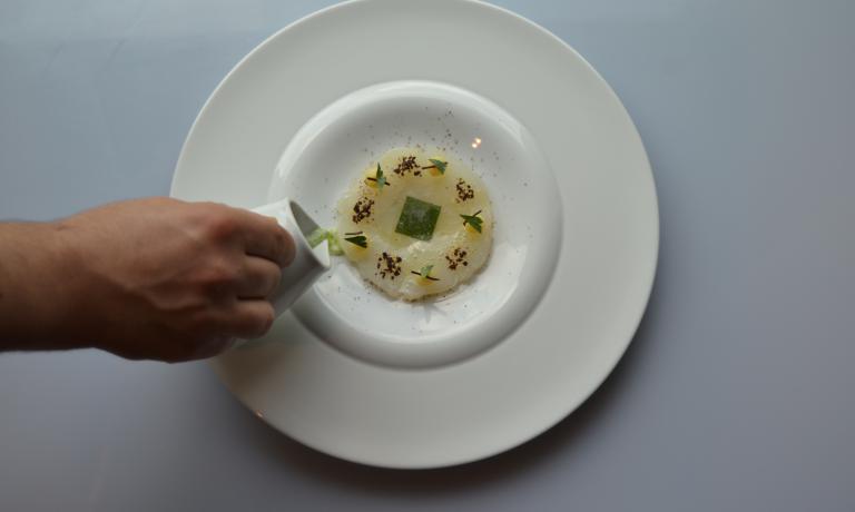 L'Insalata di baccalà, patate affumicate, bas