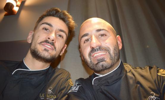 Lo chef Leonardo Giannico e il pizzaiolo Vincenzo Masi