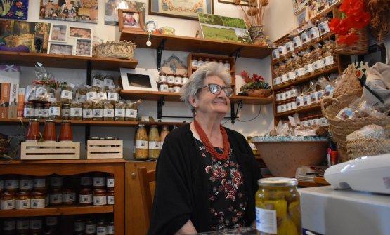 Maria Cristina Natale nel suo negozio di cose buone(fotoGiulia Monteleone)