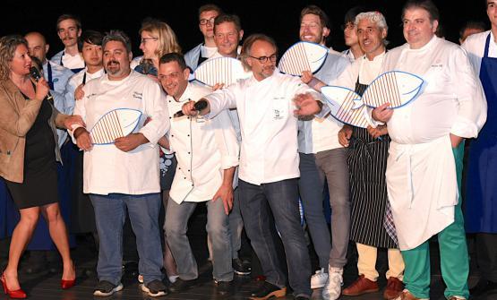 Gli chef protagonisti della serata dedicata alla t