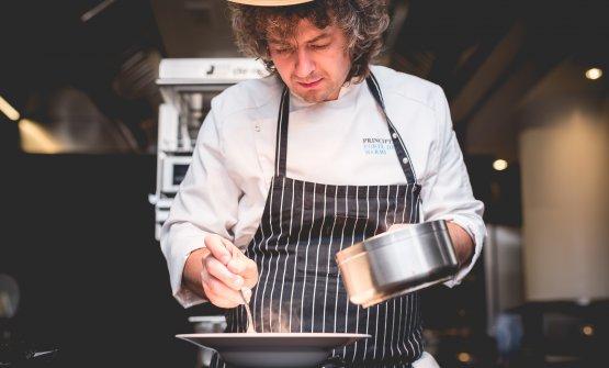 Valentino Cassanelli, chef del ristorante Lux Lucis