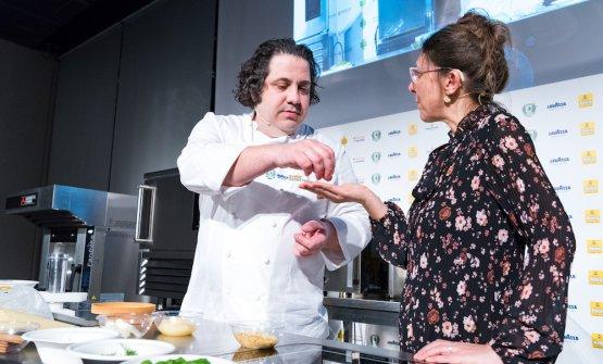 Fusto sul palco con la presentatrice Cristina Viggè