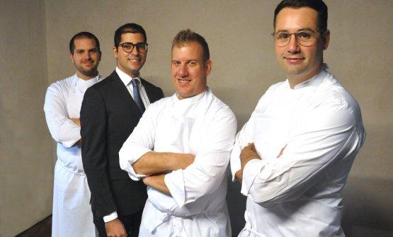 Da sinistraAlberto Andretta, Giampiero Compare,Nicola Bertuzzi,Giacomo Sacchetto