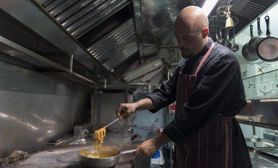 Camillo Silibello, chef assieme a mamma Angela Nigro del ristorante Cibus