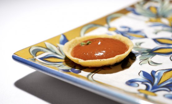 Crostatina al pomodoro arrosto