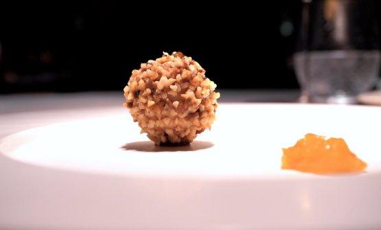 Tre variazioni di foie gras: rocher di foie gras