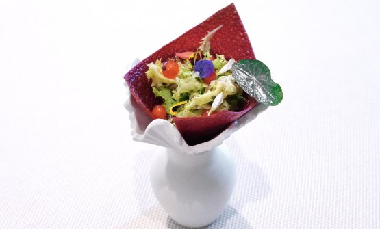 "I ""bouquet vegetali"" del piatto precedente"