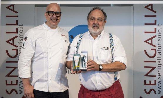 Paolo Brunelli e Paolo Marchi durante la prima edi