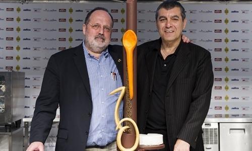 Claudio Ceroni, a destra, con Paolo Marchi, in occ